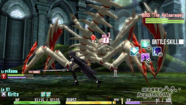 PSV游戏 刀剑神域 虚空碎片 在动作性上更接近动画